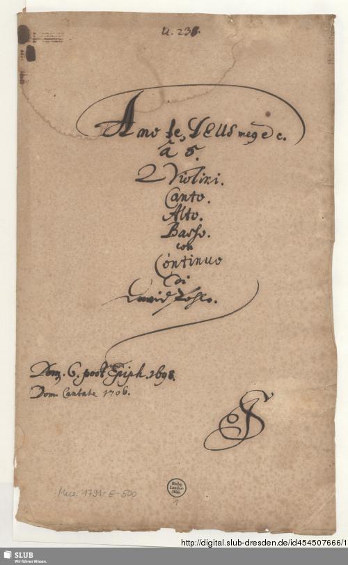 Vorschaubild von Amo te Deus meus - Mus.1791-E-500