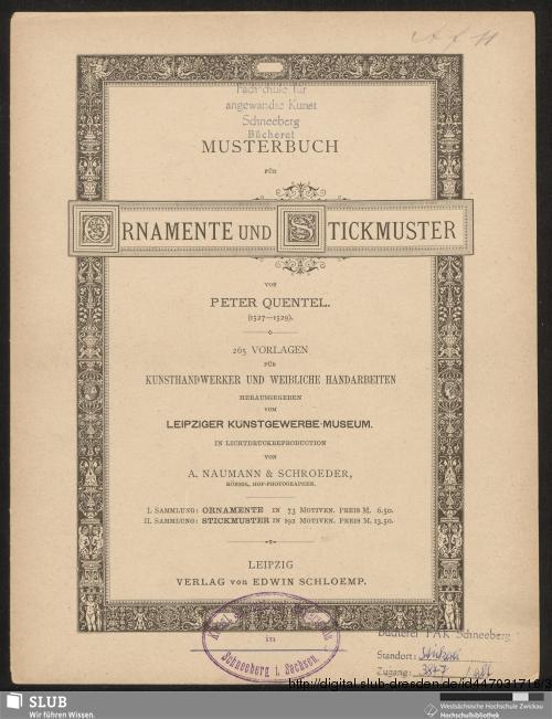 Vorschaubild von Musterbuch für Ornamente und Stickmuster