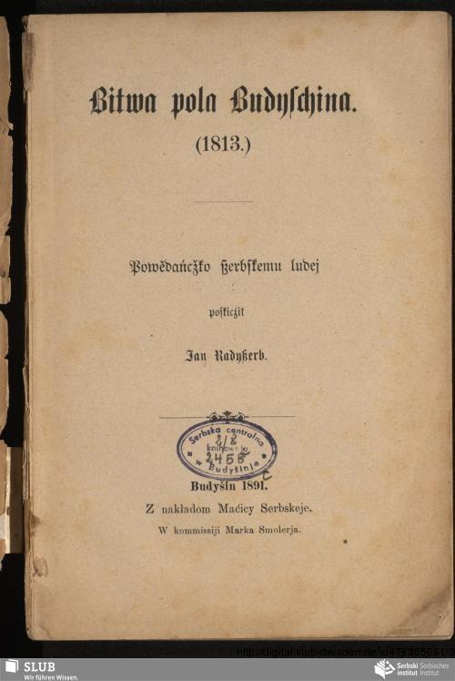 Vorschaubild von Bitwa pola Budyschina. (1813.)