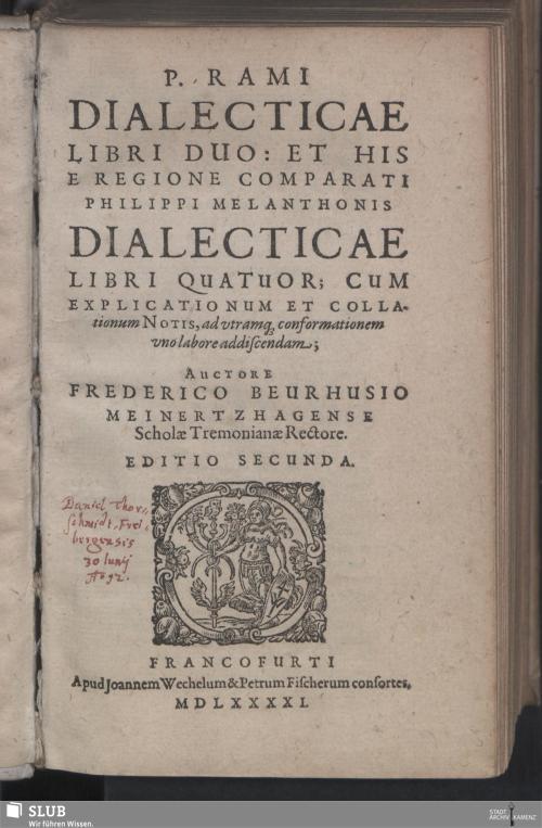 Vorschaubild von P. Rami Dialecticae Libri Duo: Et His E Regione Comparati Philippi Melanthonis Dialecticae Libri Quatuor