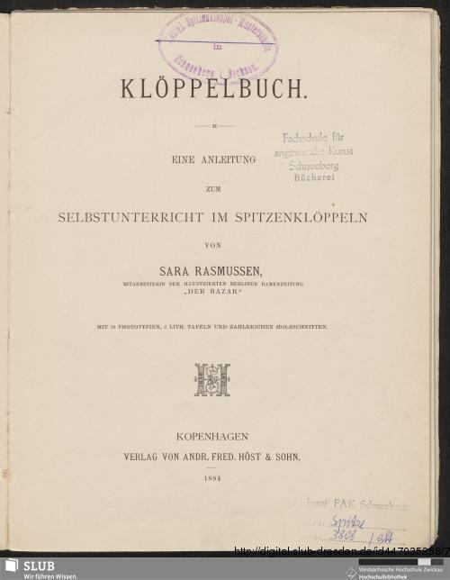 Vorschaubild von Klöppelbuch