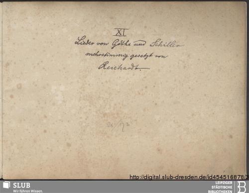 Vorschaubild von 11 Partsongs - Becker III.3.87|a