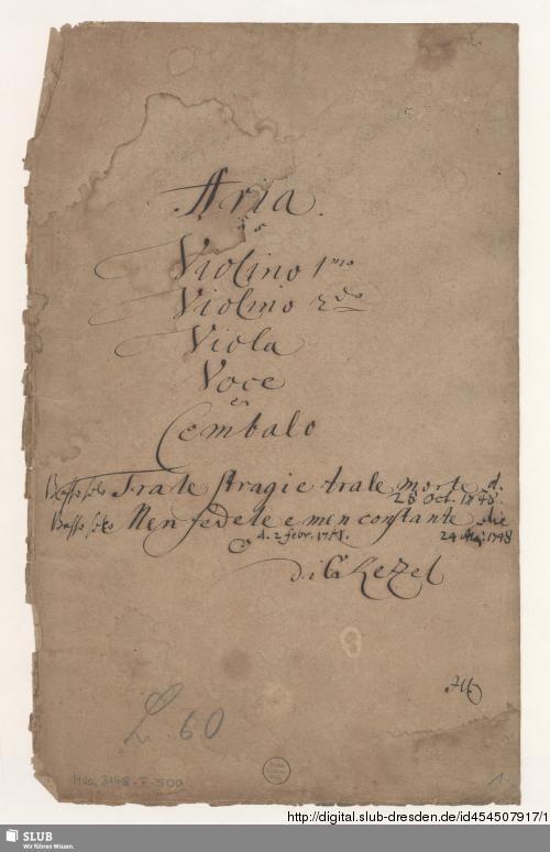 Vorschaubild von 2 Arias - Mus.3148-F-500