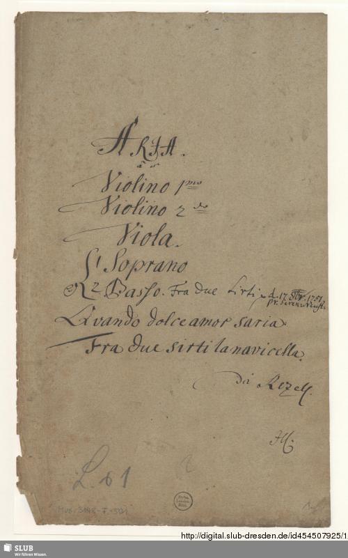 Vorschaubild von 2 Arias - Mus.3148-F-501