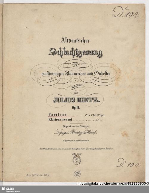 Vorschaubild von Altdeutscher Schlachtgesang