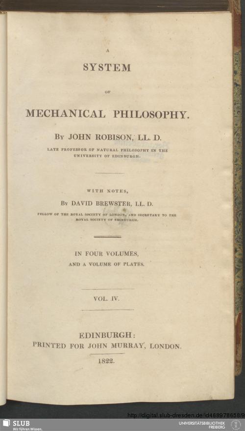 Vorschaubild von [A system of mechanical philosophy]