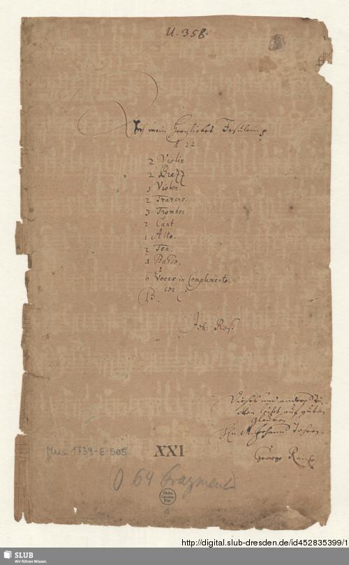 Vorschaubild von Ach mein herzliebes Jesulein - Mus.1739-E-505
