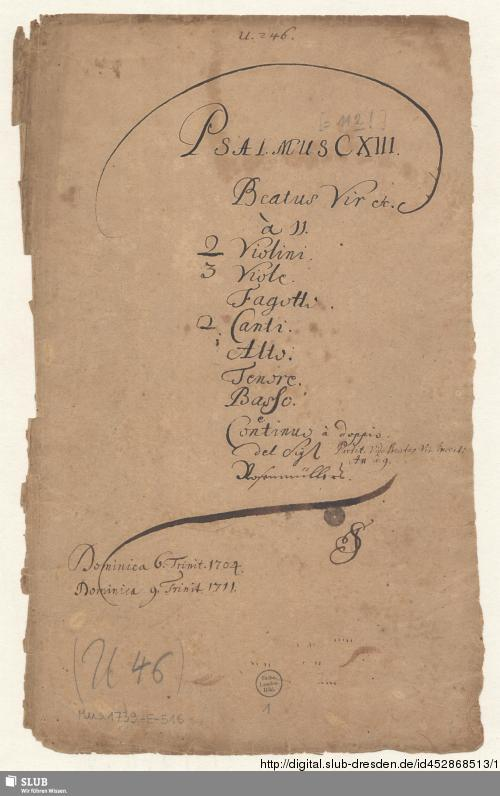 Vorschaubild von Beatus vir - Mus.1739-E-516