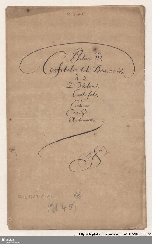 Vorschaubild von Confitebor - Mus.1739-E-514