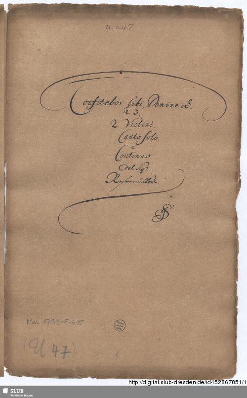 Vorschaubild von Confitebor - Mus.1739-E-515