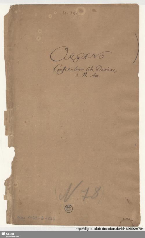Vorschaubild von Confitebor - Mus.1739-E-523