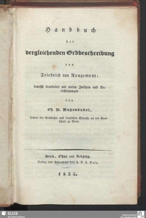 Vorschaubild von Handbuch der vergleichenden Erdbeschreibung