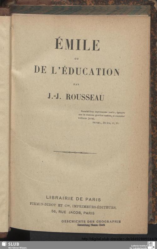 Vorschaubild von Émile, ou de l'éducation