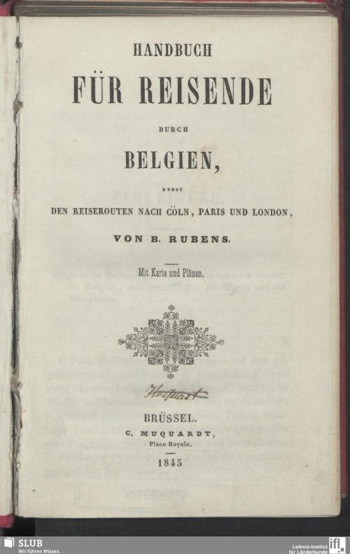 Vorschaubild von Handbuch für Reisende durch Belgien