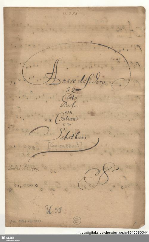 Vorschaubild von Amare desidero quem vident angeli - Mus.1547-E-500
