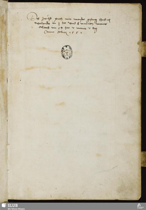 Vorschaubild von Das zwölft puch mit maister gesang hab ich volendet in 1 Jar vnd 8 monaten meins alters im 57 Jar 7 monat 7 tag Anno salutis 1552 - MG 12