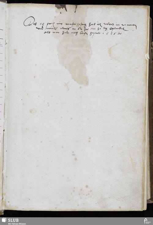 Vorschaubild von Das 15 puech mit maistergesang hab ich volent in 21 monaten vnd meines alters im 62 Jar am 30 tag September als man Zalt nach Cristi gepurt 1556 Jar - MG 15