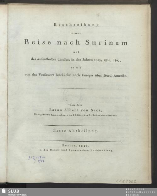 Vorschaubild von [Beschreibung einer Reise nach Surinam]