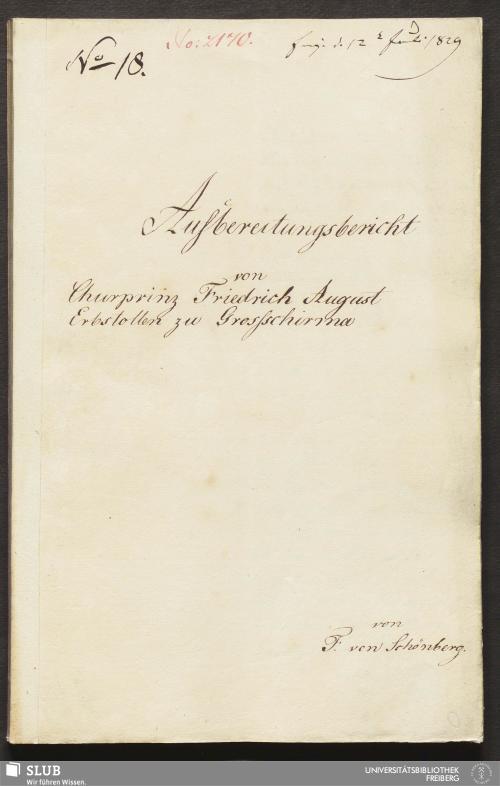 Vorschaubild von Aufbereitungsbericht von Churprinz Friedrich August Erbstollen zu Grossschirma - 18.6822 4.