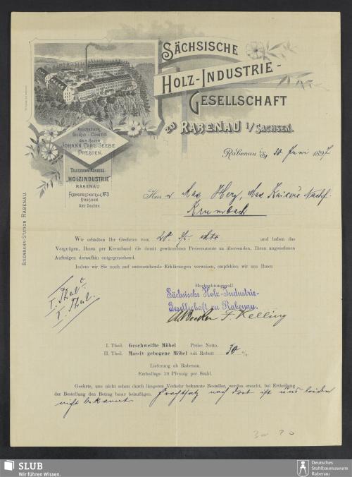 Vorschaubild von Sächsische Holz-Industrie-Gesellschaft Rabenau i. Sachsen