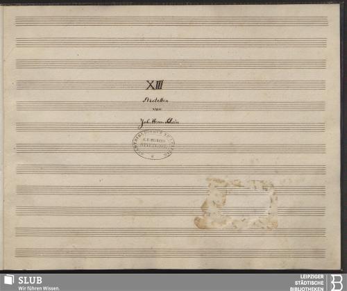 Vorschaubild von 13 Motets - Becker III.2.160