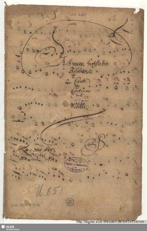 Vorschaubild von Ach mein herzliebes Jesulein - Mus.1857-E-506