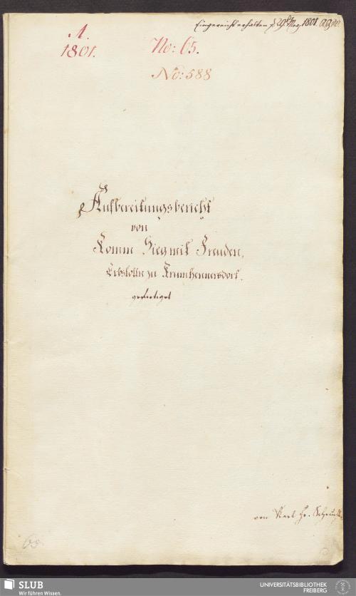 Vorschaubild von Aufbereitungsbericht von Komm Sieg mit Freuden, Erbstolln zu Krumhennersdorf - 17.6481 4.