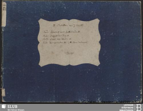 Vorschaubild von 4 Motets - Becker III.2.163