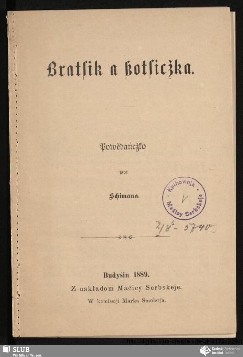 Vorschaubild von Bratsik a ßotsicžka