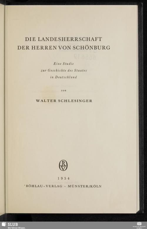 Vorschaubild von Die Landesherrschaft der Herren von Schönburg