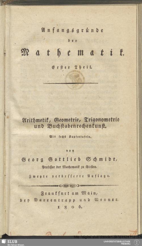 Vorschaubild von Arithmetik, Geometrie, Trigonometrie und Buchstabenrechenkunst