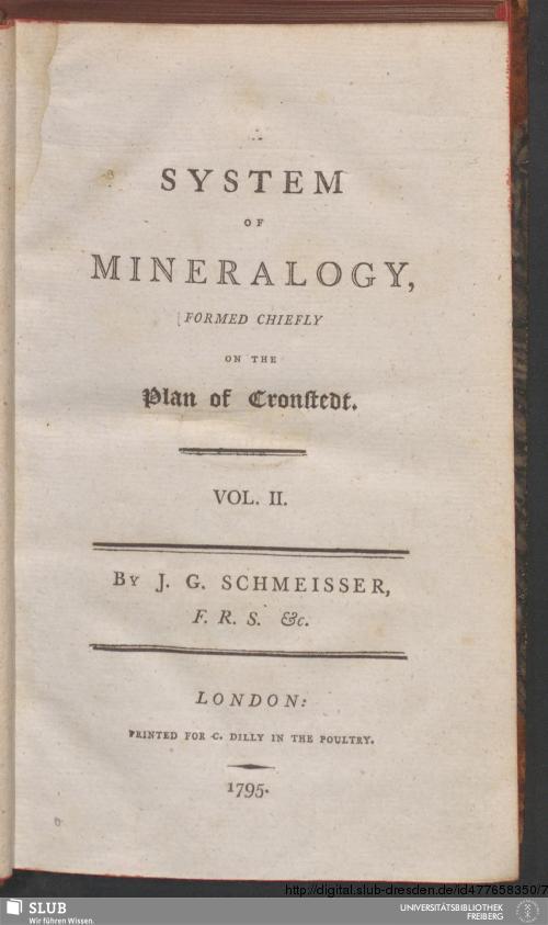 Vorschaubild von [A System Of Mineralogy, Formed Chiefly On The Plan of Cronstedt]