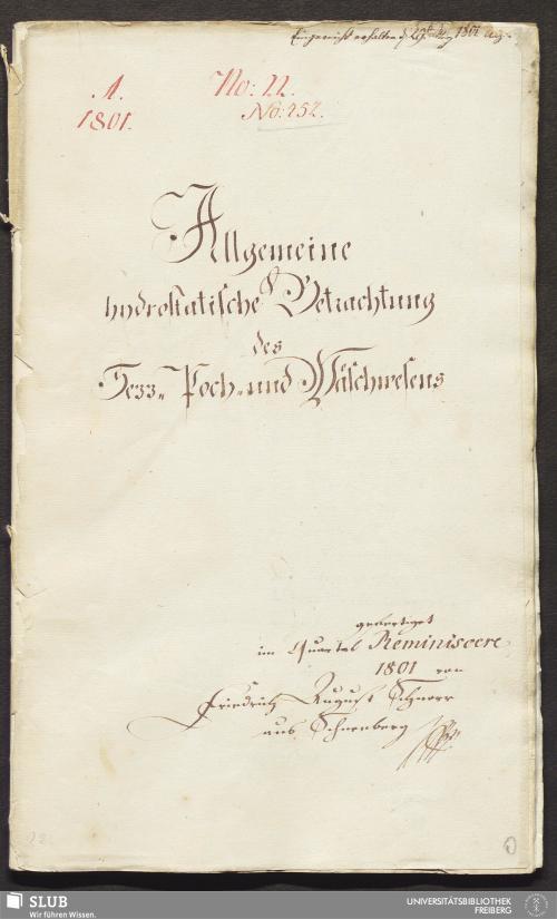 Vorschaubild von Allgemeine hydrostatische Betrachtung des Sezz- Poch- und Wäschwesens - 17.6349 4.