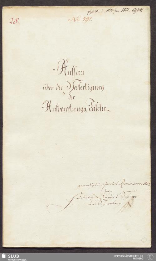 Vorschaubild von Aufsaz über die Verfertigung der Aufbereitungs-Tafeln - 17.6383 4.