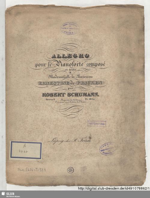 Vorschaubild von Allegro pour le Pianoforte