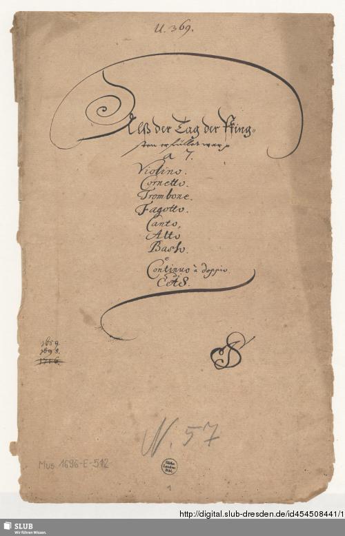 Vorschaubild von Als der Tag der Pfingsten erfüllet war - Mus.1696-E-512