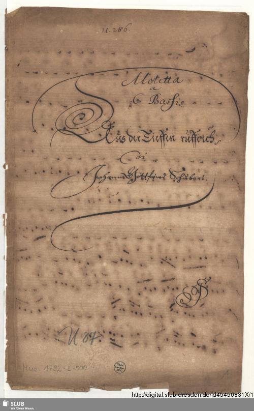 Vorschaubild von Aus der Tiefen rufe ich Herr zu dir - Mus.1792-E-500