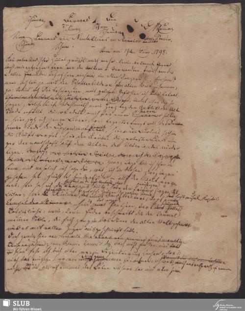Vorschaubild von Bernard von Nontelliers an Maurice von Storée. [Erzählung in Briefform] - 4871,IV,5-A3