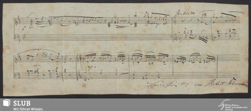 Vorschaubild von Fragment eines Klaviersatzes - 1994.74-A1
