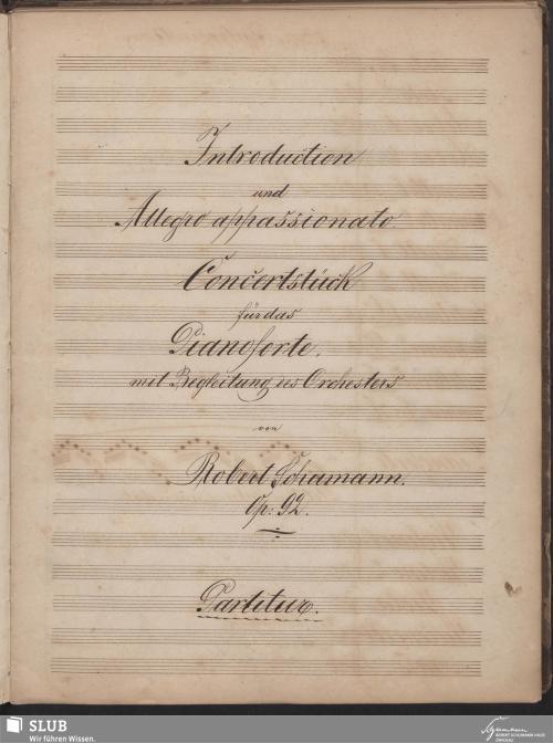 Vorschaubild von Introduction und Allegro appassionato - 1998.49-A1c