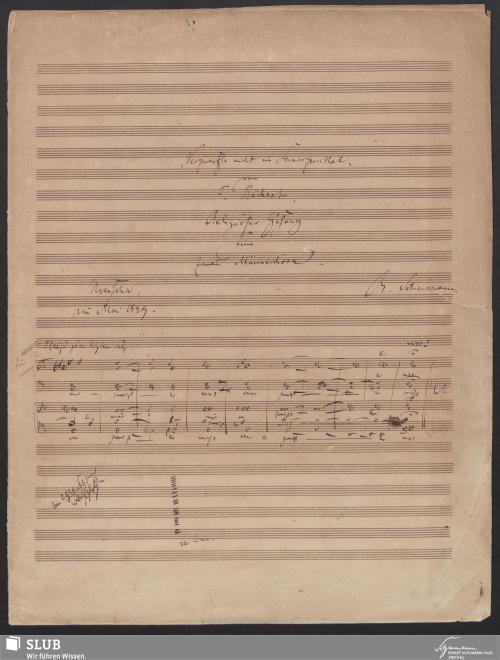 """Vorschaubild von """"Verzweifle nicht im Schmerzensthal"""" von F. Rückert. Religiöser Gesang für zwei Männerchöre - 7590-A1"""