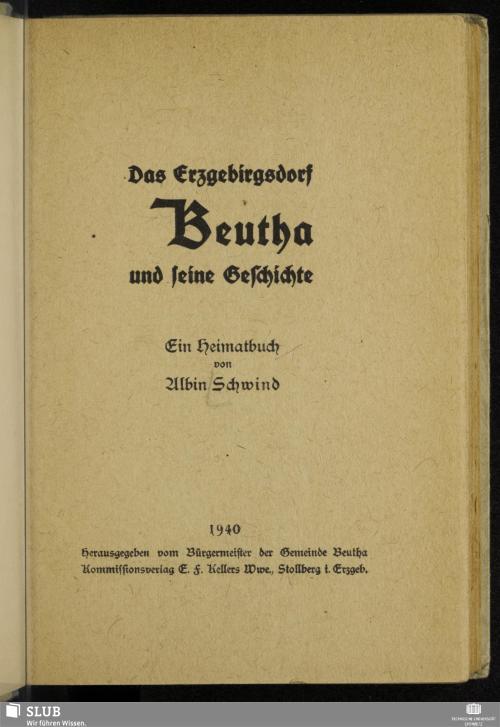 Vorschaubild von Das Erzgebirgsdorf Beutha und seine Geschichte