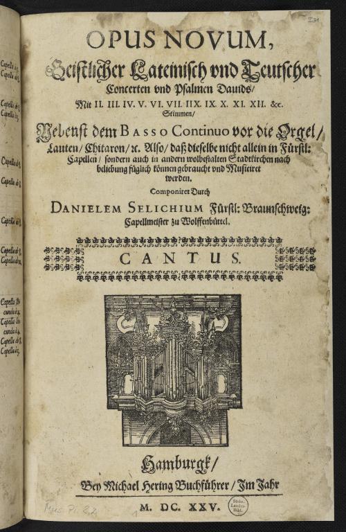 Vorschaubild von Opus novum, Geistlicher Lateinisch und Teutscher Concerten und Psalmen Davids