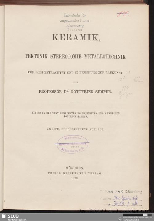 Vorschaubild von Keramik, Tektonik, Stereotomie, Metallotechnik für sich betrachtet und in Beziehung zur Baukunst