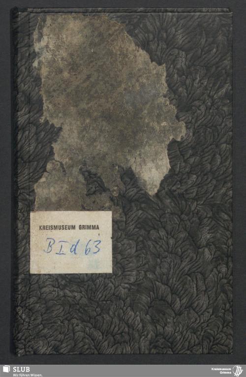 Vorschaubild von Wanderbuch des Schuhmachergesellen Friedrich August Seydler aus Pillnitz - BId 63