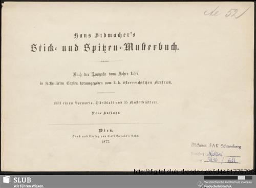 Vorschaubild von Hans Sibmacher's Stick- und Spitzen-Musterbuch