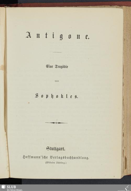 Vorschaubild von Antigone