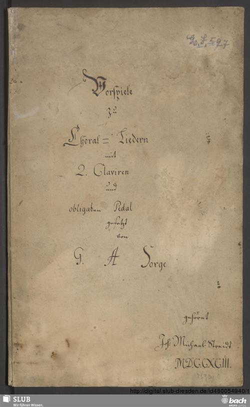 Vorschaubild von 19 Chorale arrangements - Go. S. 597