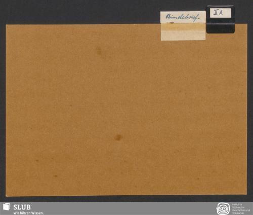 Vorschaubild von Bindebrief (II A)