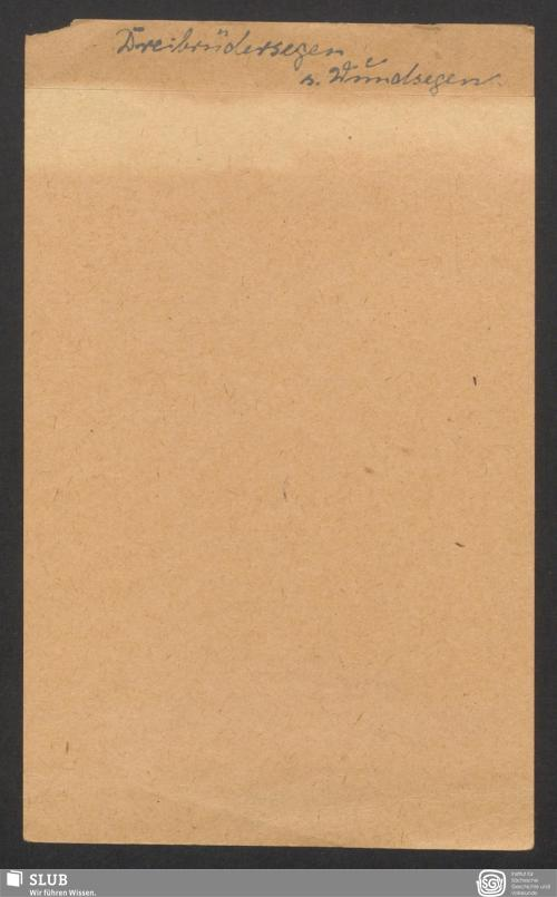 Vorschaubild von Dreibrüdersegen (?)